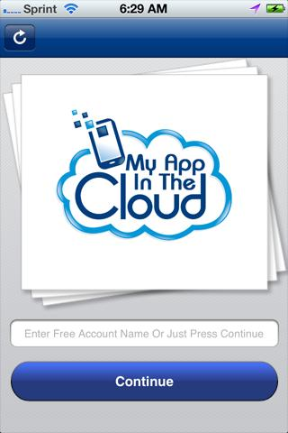 My App In The Cloud - screenshot