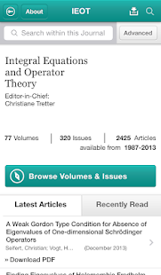 Integ Eqns and Operator Theory - screenshot thumbnail