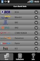 Screenshot of Kurs Bank Indo