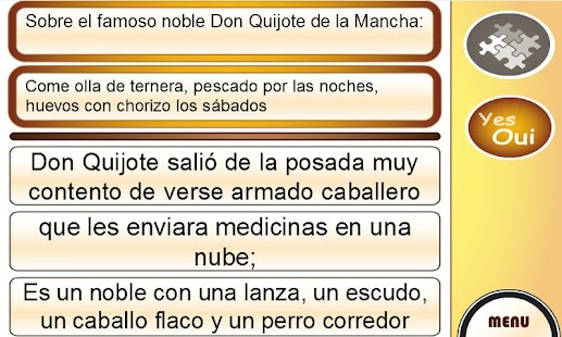 Learn Spanish with Don Quixote- screenshot thumbnail