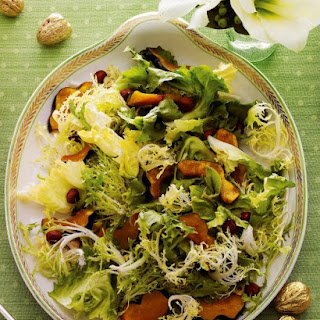Chicory Salad with Maple-Roasted Acorn Squash