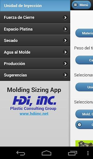 Molding Sizing App