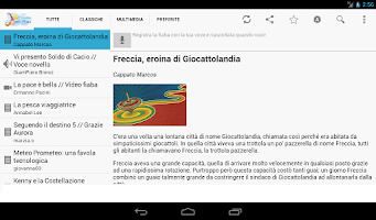 Screenshot of Italian bedtime stories