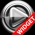 Poweramp widget Silver Glas icon