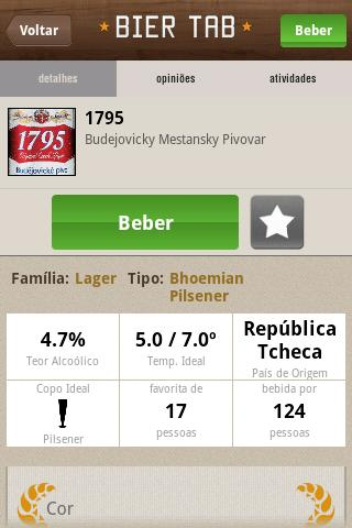 BIER TAB- screenshot