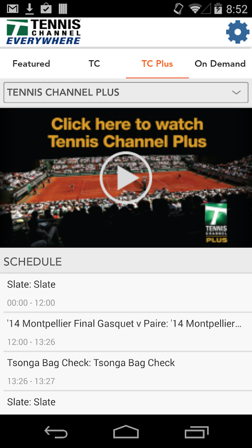Tennis Channel Everywhere- screenshot
