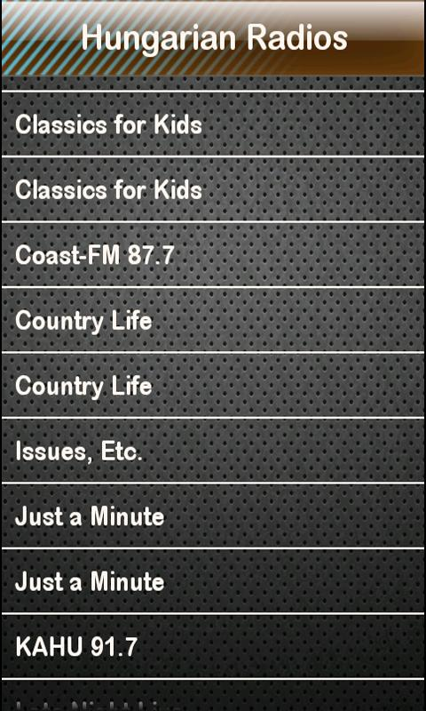 Hungarian Radio Radios - screenshot