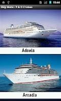 Screenshot of Ship Mate - P&O Cruises