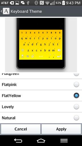 FlatYellow Keyboard LG THEME