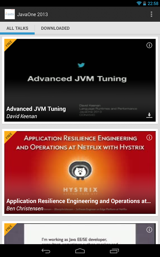 JavaOne 2013 - screenshot