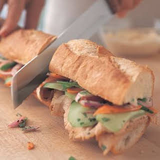 Vietnamese-Style Pork Sandwich.