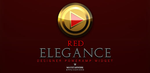 Poweramp Widget Red Elegance APK