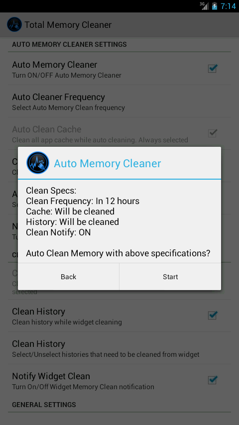 Total Memory Cleaner Free- screenshot