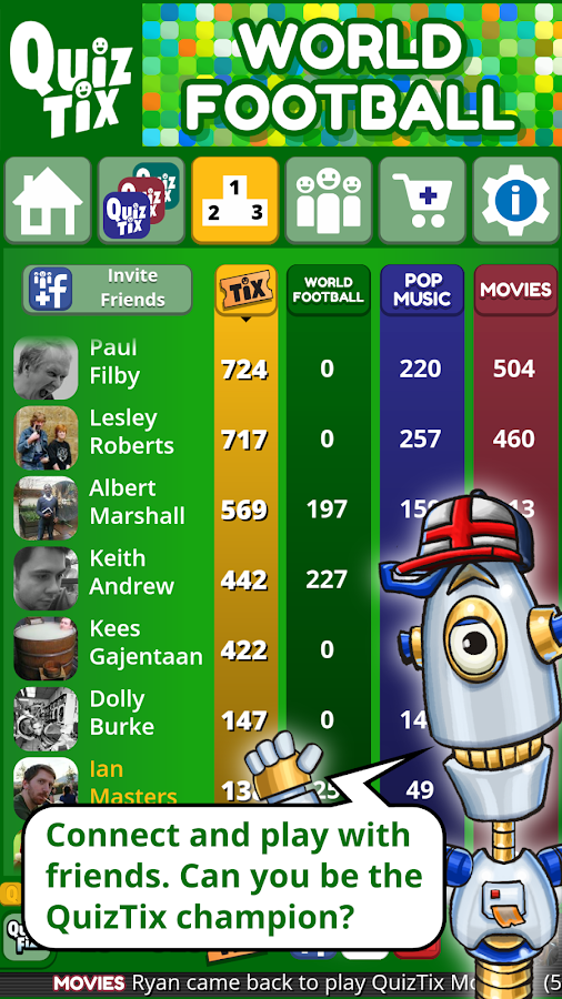 QuizTix: World Football Quiz & Soccer Trivia Game- screenshot