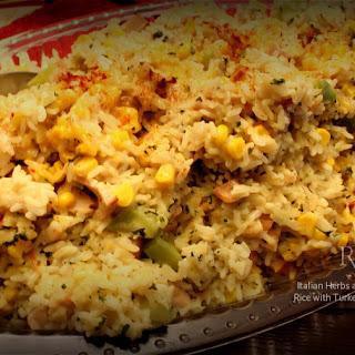 Cheesy Turkey Italian Herb Rice