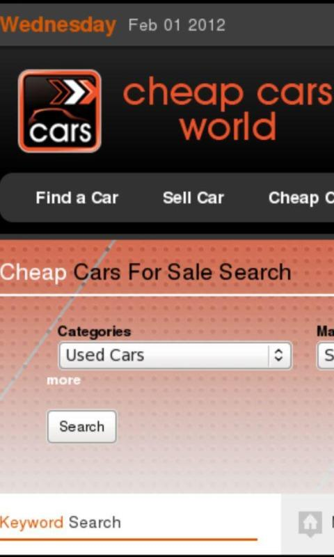 cheap cars world - screenshot