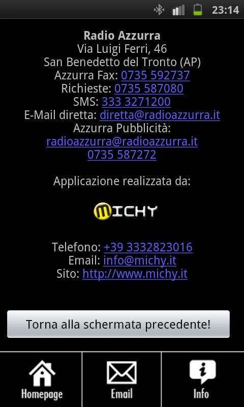 Radio Azzurra - screenshot