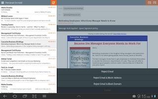 Screenshot of Mimecast Mobile