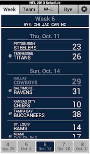 NFL 2013 Schedule - screenshot thumbnail