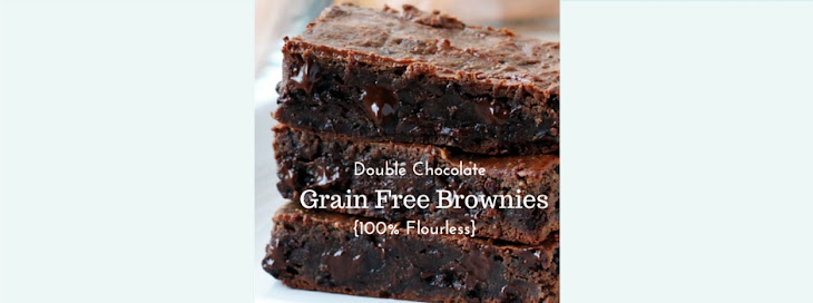 Double Chocolate Grain-Free Brownies {Completely Flourless}