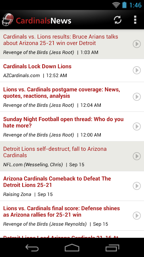 Cardinals News (NFL) - screenshot