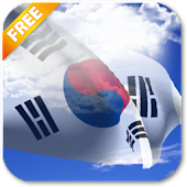 3D South Korea Flag LWP
