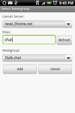 Usenet Reader for Android DEMO- screenshot