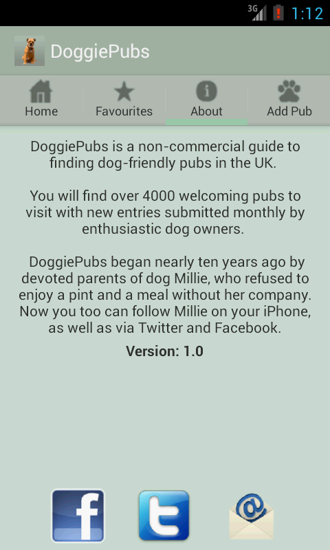 DoggiePubs- screenshot