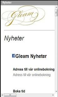Gleam Frisör- screenshot thumbnail