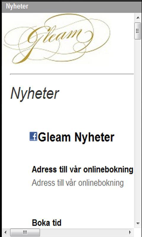 Gleam Frisör- screenshot