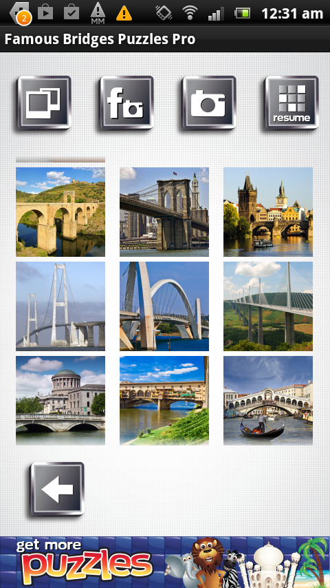 Famous Bridges Puzzles - Free- screenshot