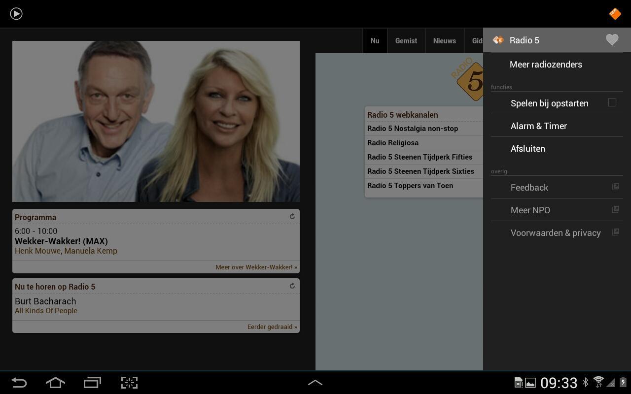 NPO Radio 5- screenshot