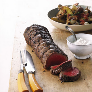 Grilled Beef Tenderloin with Potato Hobo Packs