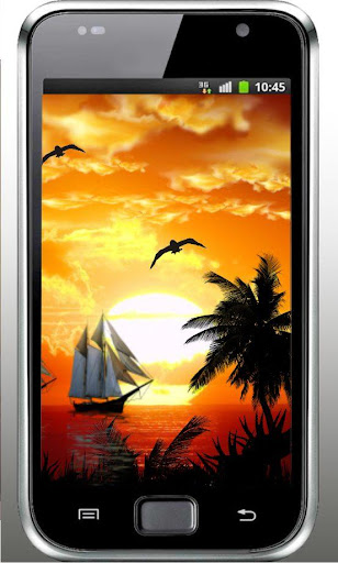 Sea Sunset HD live wallpaper