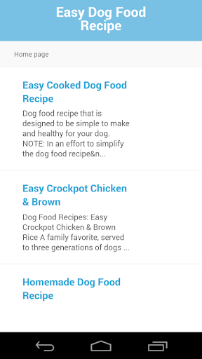 Easy Dog Food Recipe