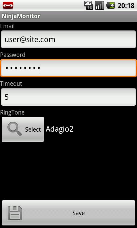NinjaMonitor- screenshot