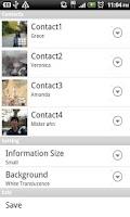 Screenshot of ContactWidget