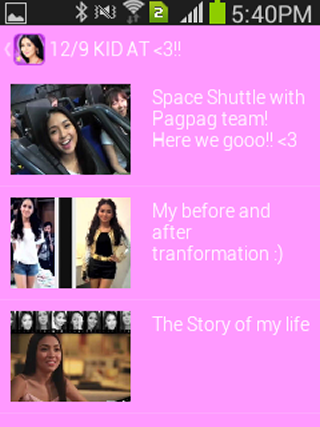 iWant Stars for Kathryn - screenshot
