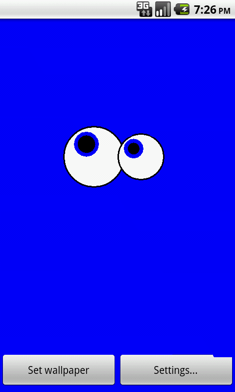 Googly Eyes Live Wallpaper - screenshot