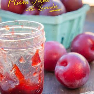 Plum Jam Recipe with Lavender.