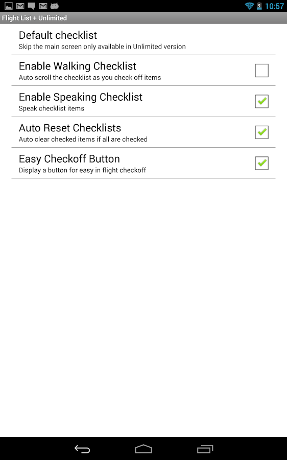 Flight List Plus (Checklist)- screenshot