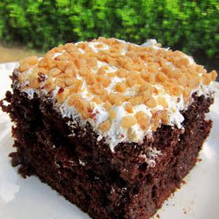 Chocolate Toffee Cake.