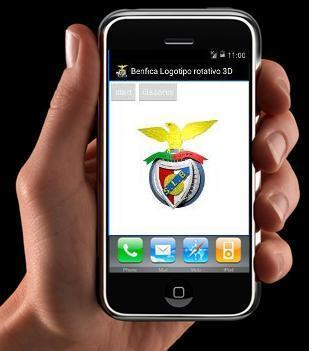 Benfica Logotipo Rotativo 3D A