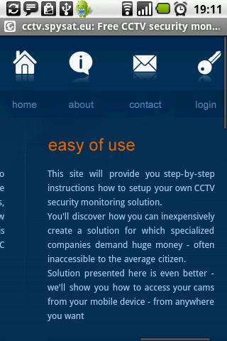 Free CCTV security monitoring - screenshot