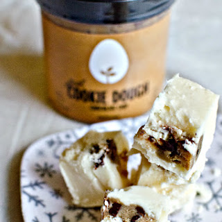 White Chocolate Cookie Dough Fudge with Hampton Creek