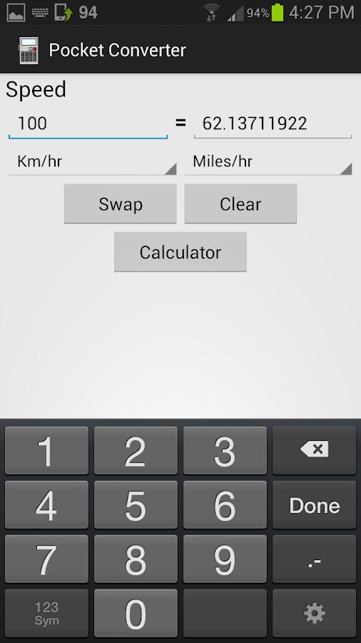 Pocket Converter (Units) - screenshot