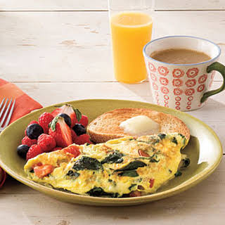 Spinach-and-Cheese Omelet.