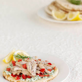 Grilled Pitas with Tuscan Chicken.