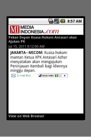 Media Indonesia (unofficial) - screenshot