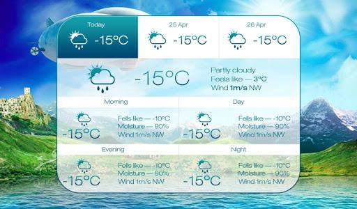 "Живые обои ""Beautiful seasons weather HD"" для планшетов на Android"